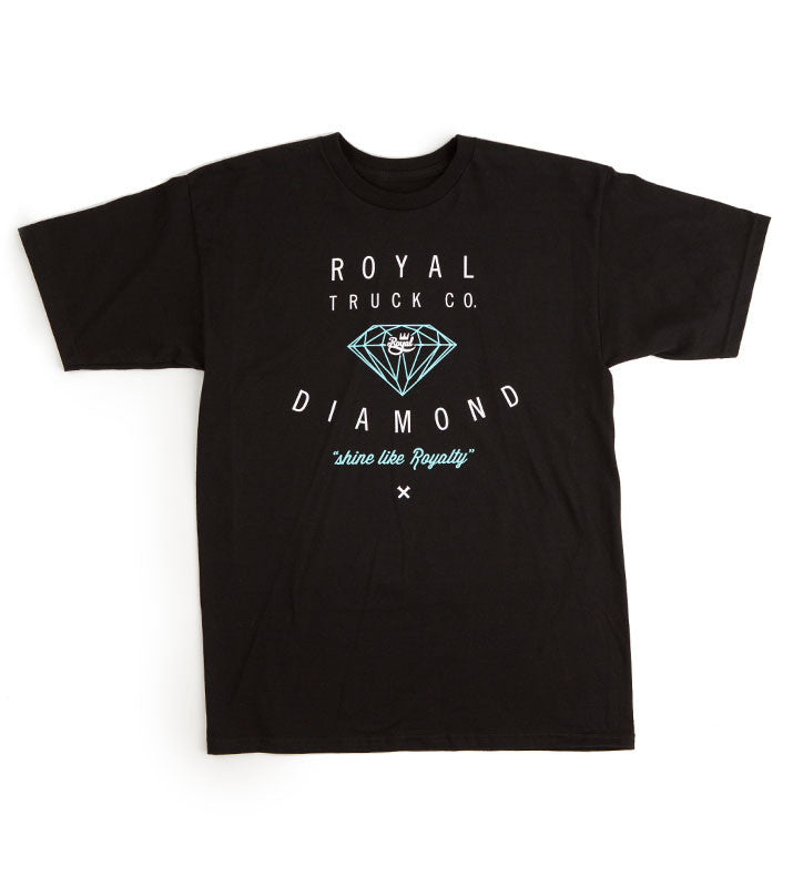 Royal Diamond Tee - Black - Men's T-Shirt