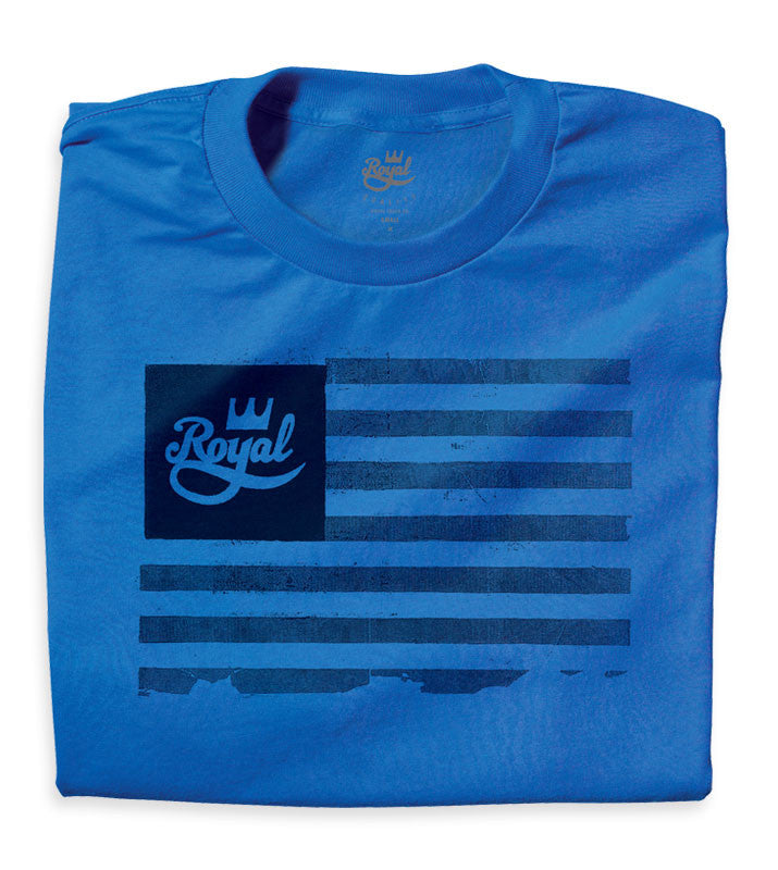 Royal Flag - Blue/Black - Men's T-Shirt