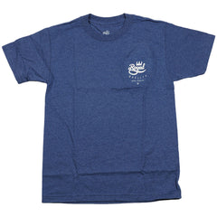 Royal Crown Crest S/S - Denim Heather - Men's T-Shirt