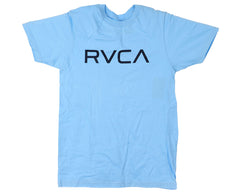 RVCA Big RVCA Logo S/S - Light Blue/Black - Men's T-Shirt