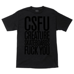 Creature F U Tonal Regular S/S - Black - T-Shirt