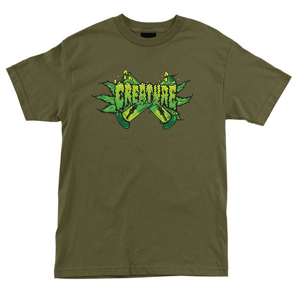 Creature OG Kush Regular S/S - Military Green - Men's T-Shirt