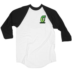 Creature Live To Ride Raglan - White/Black - Men's T-Shirt