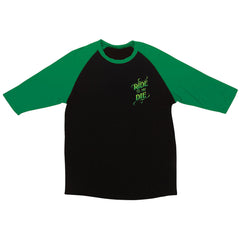 Creature Ride Til You Die Raglan - Black/Kelly Green - Men's T-Shirt