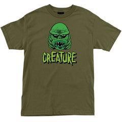 Creature Black Lagoon Regular S/S - Military Green - Men's T-Shirt
