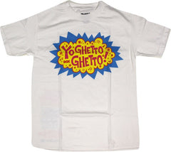 DGK T's Yo Ghetto Ghetto - White - Men's T-Shirt