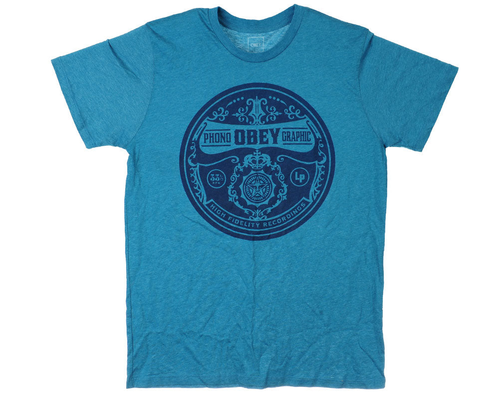 Obey Pornographic S/S - Heather Lagoon - Men's T-Shirt