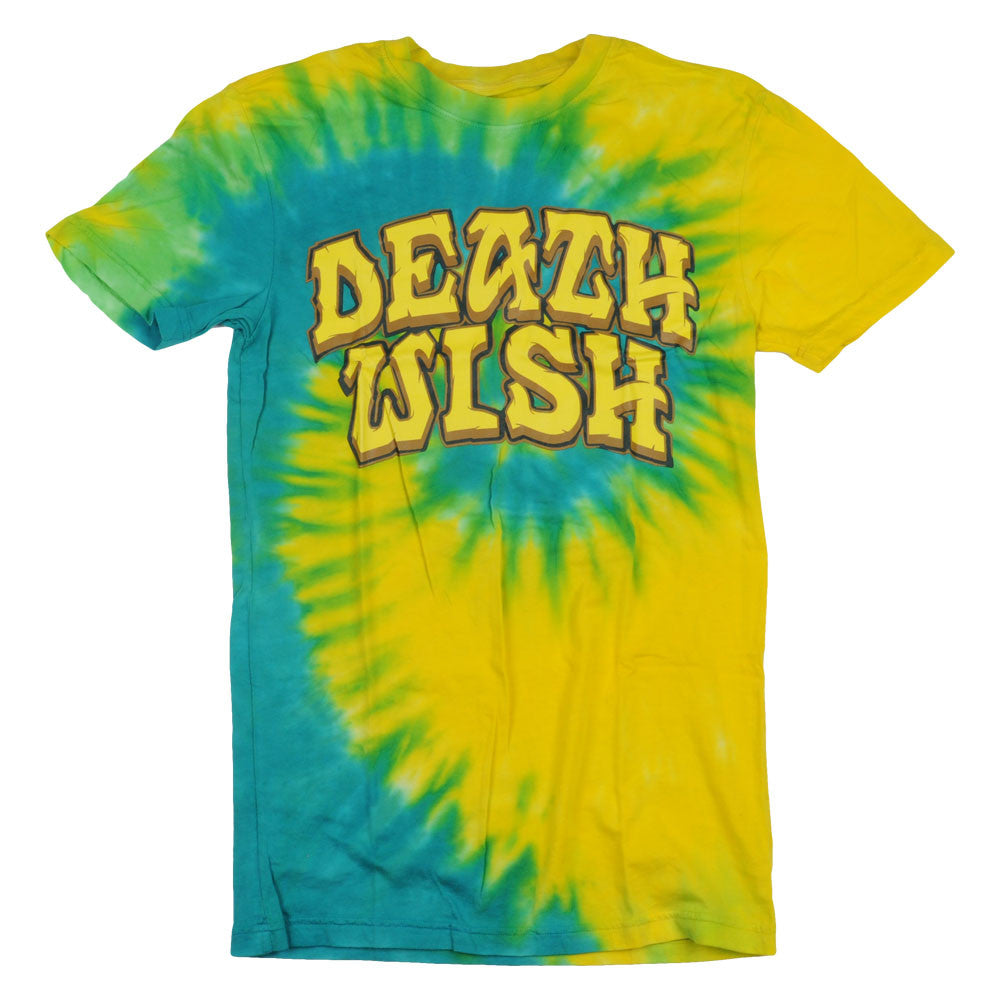 Deathwish Great Death - Yellow/Blue Tie-Dye - Men's T-Shirt