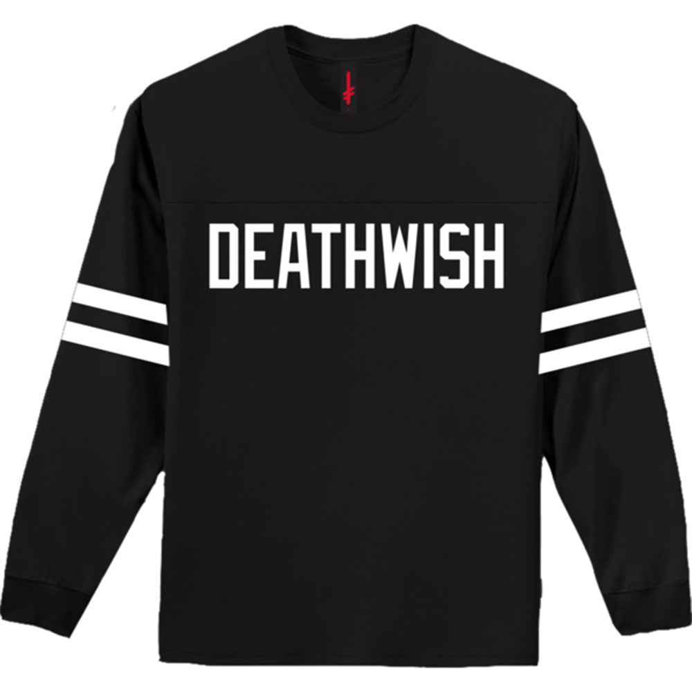 Deathwish Boardwalk L/S - Black/White - Men's T-Shirt