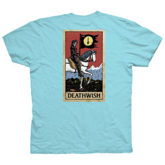 Deathwish Tarot Card S/S - Light Blue - Men's T-Shirt