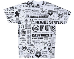 Rogue Status Cluster S/S - White - Men's T-Shirt
