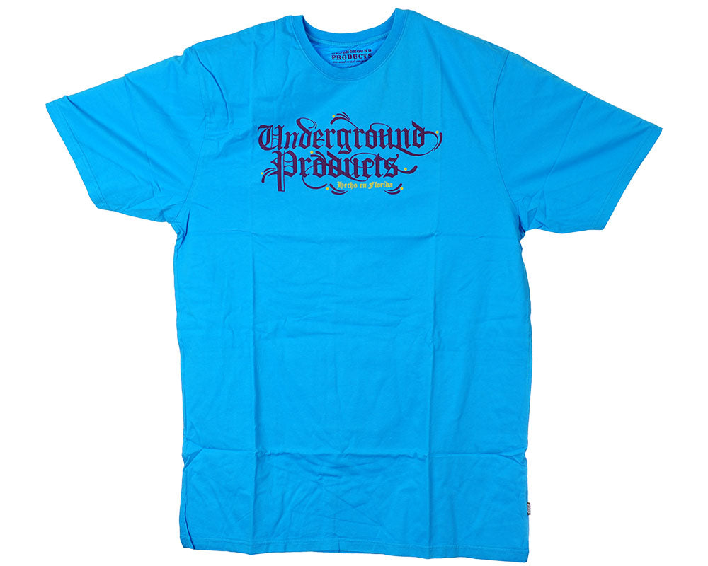 Underground Products Hencho En Florida S/S - Blue - Men's T-Shirt