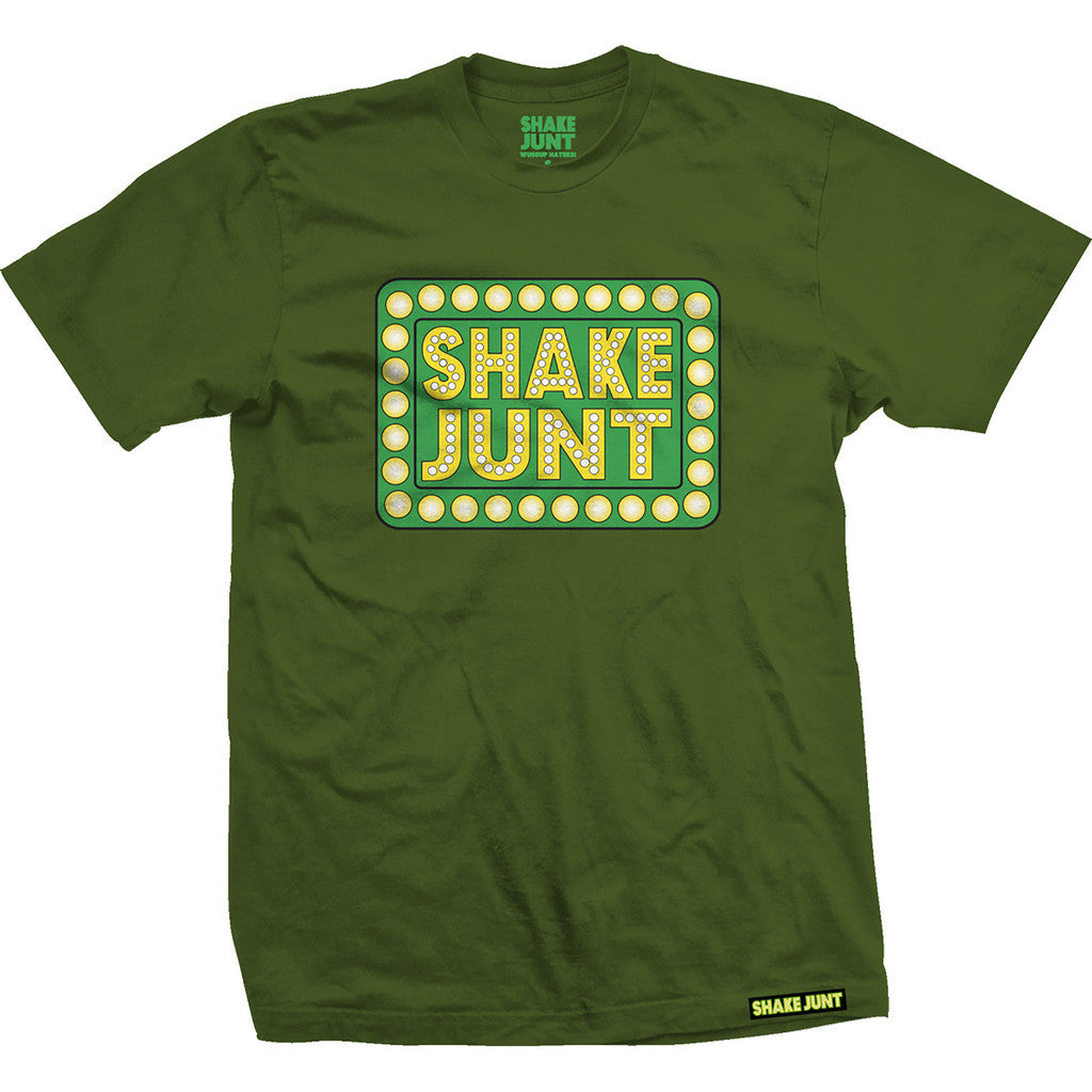 Shake Junt Box Logo Forest S/S - Green - Men's T-Shirt