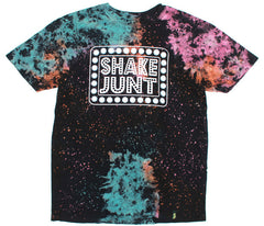 Shake Junt Box Logo Space S/S - Black/Multi - Men's T-Shirt