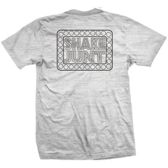 Shake Junt Box Logo S/S - White Burnout - Men's T-Shirt