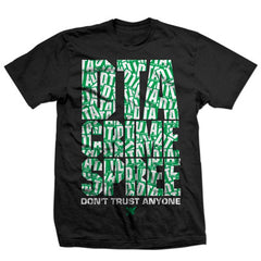DTA Crime Spree - Black / Green / White - Men's T-Shirt