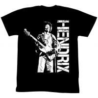 Jimi Hendrix Play On - Black/White - Band T-Shirt