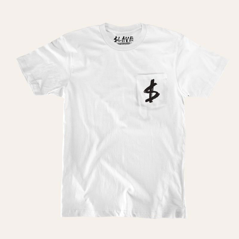 Slave Money Pocket S/S - White - Men's T-Shirt