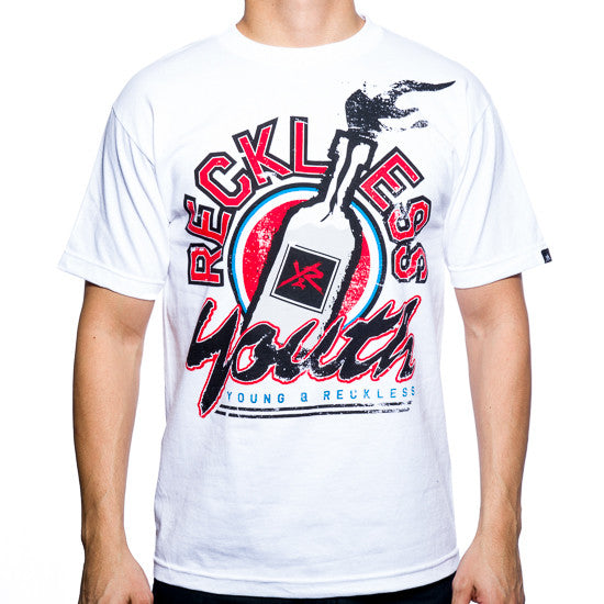 Young and Reckless Molotov - White - Men's T-Shirt