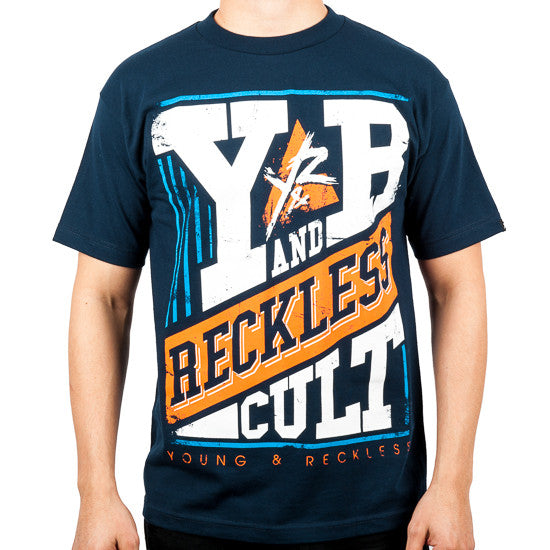 Young and Reckless Pillars - Navy - Men's T-Shirt