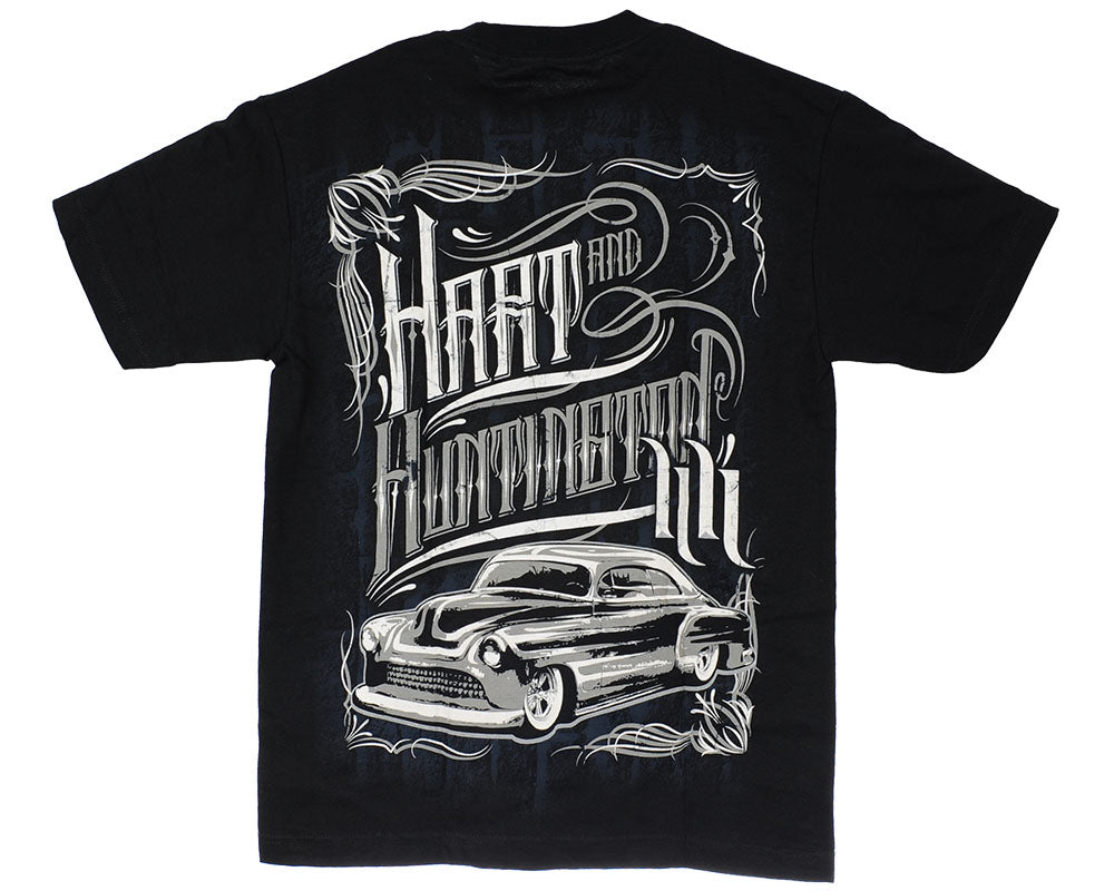 Hart & Huntington Vintage Moto S/S - Black - Men's T-Shirt