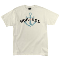 Nor Cal Anchored Regular S/S - Cream - Men's T-Shirt