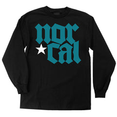 Nor Cal MDVL Regular L/S - Black - Men's T-Shirt