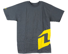 One Industries Side Logo S/S - Charcoal/Yellow - Men's T-Shirt