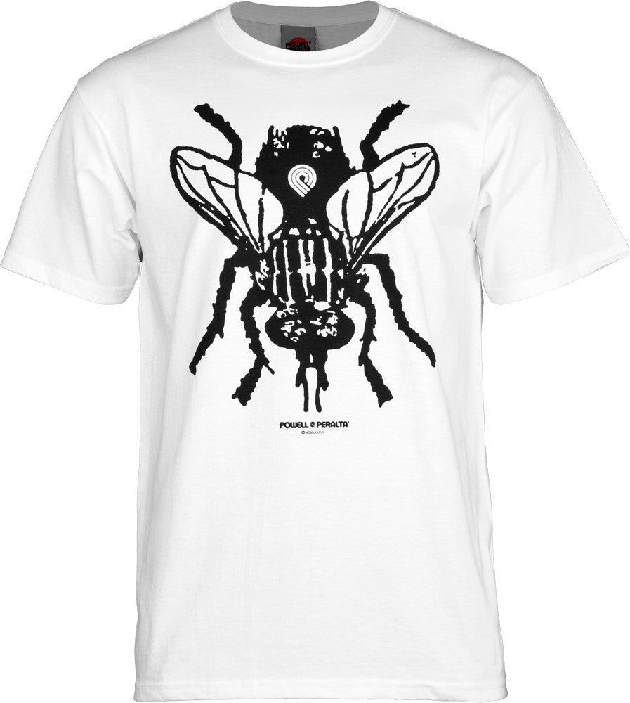 Powell Peralta Fly Short Sleeve - White - Men's T-Shirt