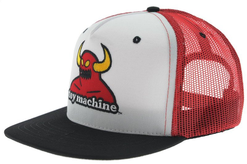 Toy Machine Monster Cap Adjustable Snapback - Red - Men's Hat