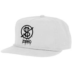 Zero Hardluck Unstructured Snapback - White - Men's Hat