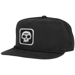 Zero Single Skull Patch Snapback - Black - Men's Hat
