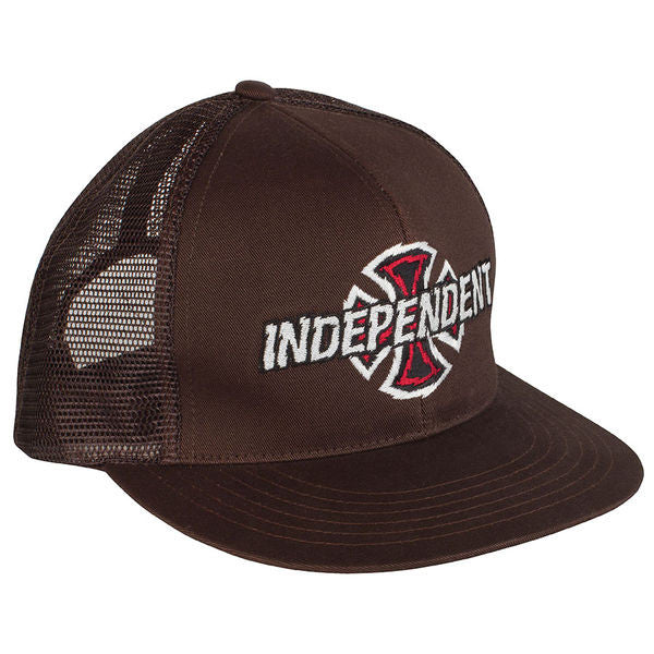 Independent Shredder Trucker Mesh - Dark Brown - Men's Hat