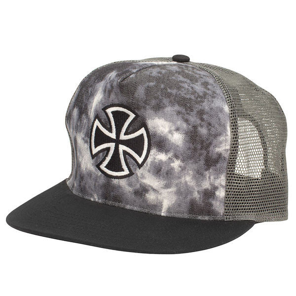 Independent Outline Cross Trucker Mesh - Tie Dye/Black - Men's Hat