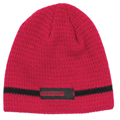 Independent Red Line Skull Cap - OS - Red - Men's Beanie