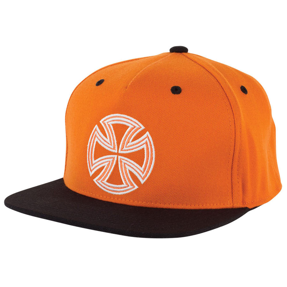Independent Lines Flexfit® One Ten Snapback Hat - OS - Orange/Black - Men's Hat