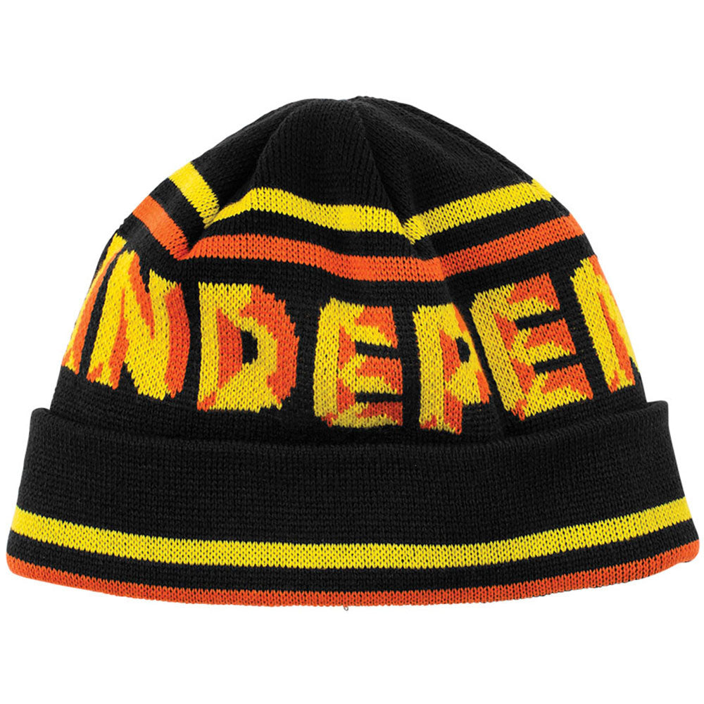 Independent Sign Long Shoreman - Black/Yellow/Orange - Men's Beanie