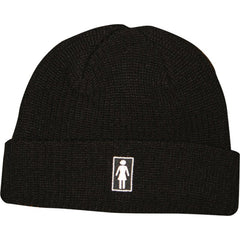 Girl OG Fold - Black - Men's Beanie