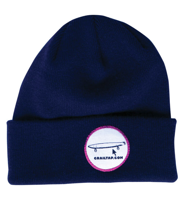 Girl Crailtap Patch - Blue/White - Men's Beanie