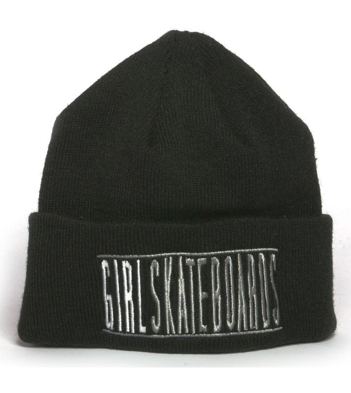 Girl Bars Folded - Black - Men's Beanie