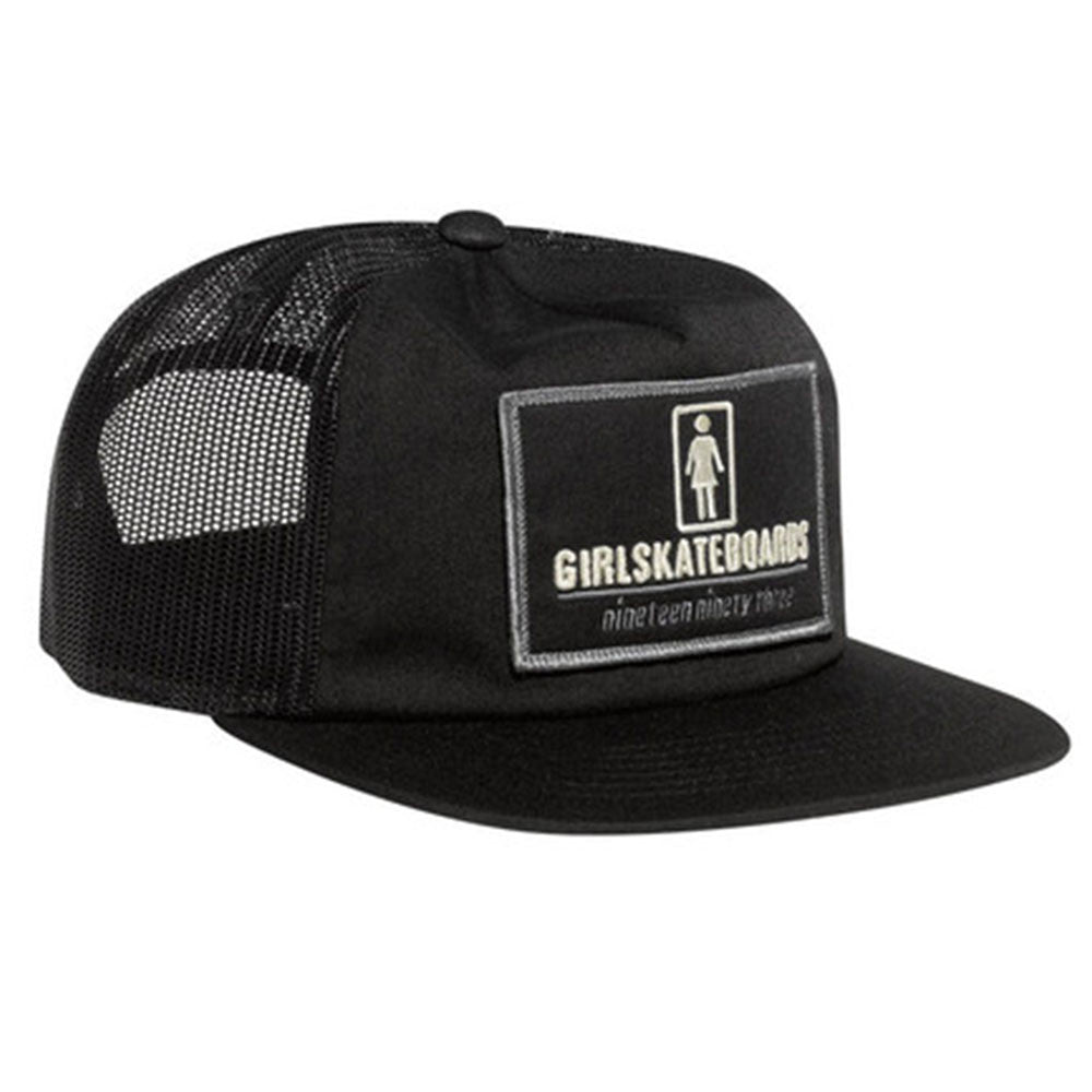Girl Stations Trucker Snapback - Black - Men's Hat