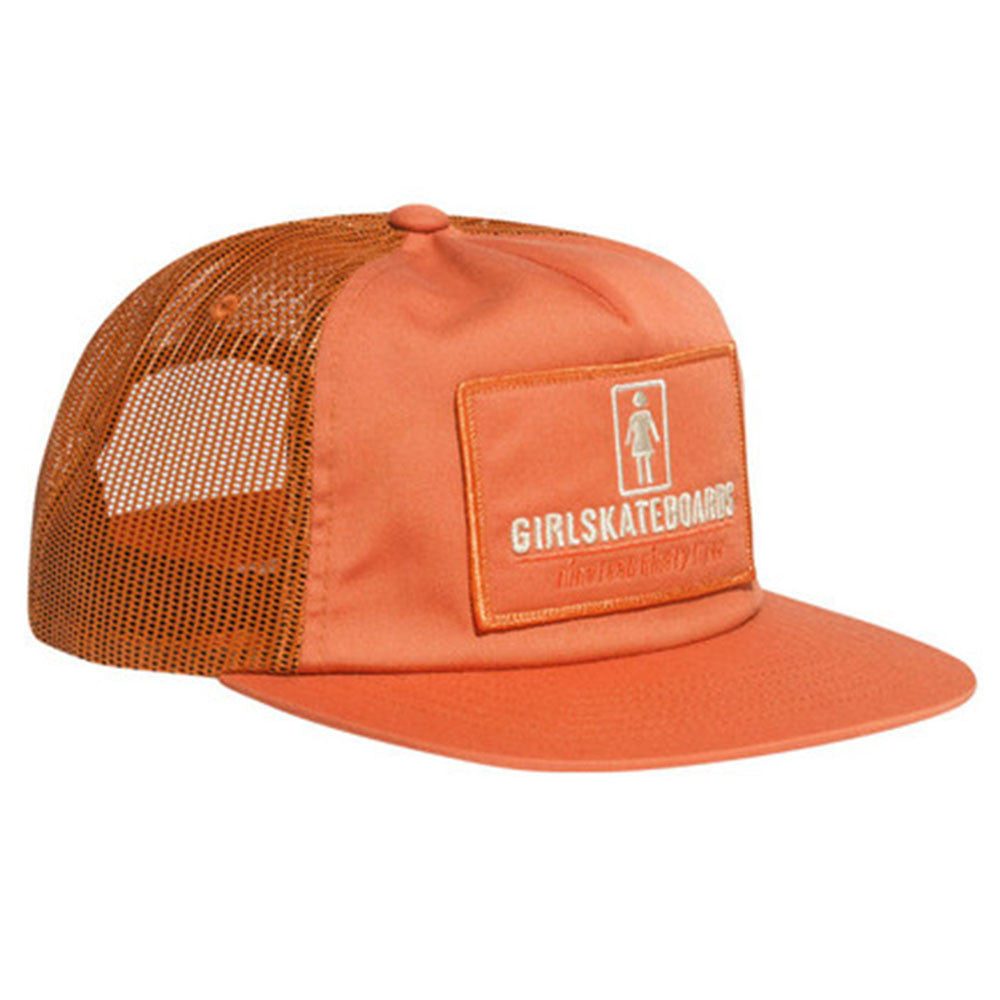 Girl Stations Trucker Snapback - Burnt Orange - Men's Hat