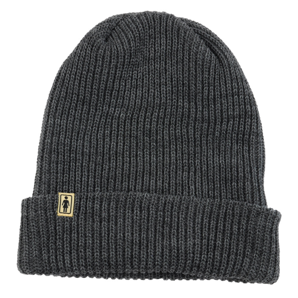 Girl OG Folded - Heather Grey - Men's Beanie