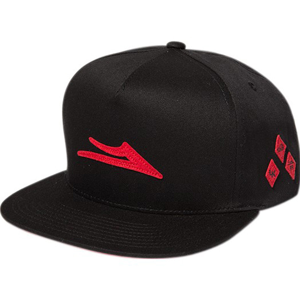 Lakai Tri-Die Snapback - Black/Red - Men's Hat