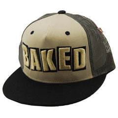 Baker Baked Trucker - Beige/Black - Men's Hat