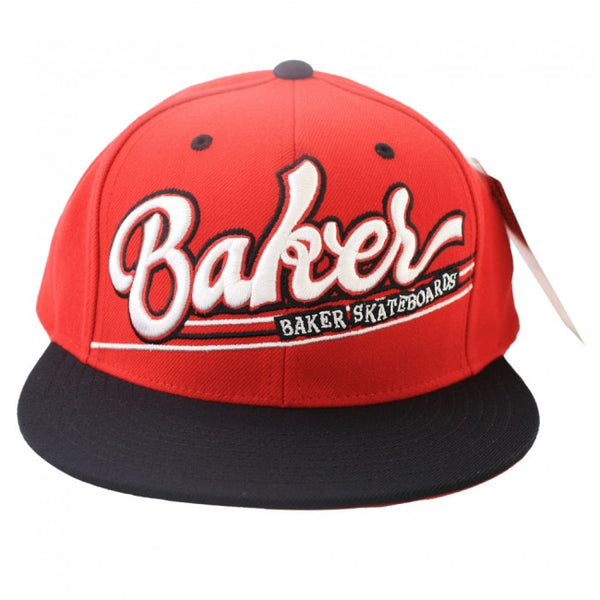 Baker Game Time Snapback - Red/Black - Men's Hat