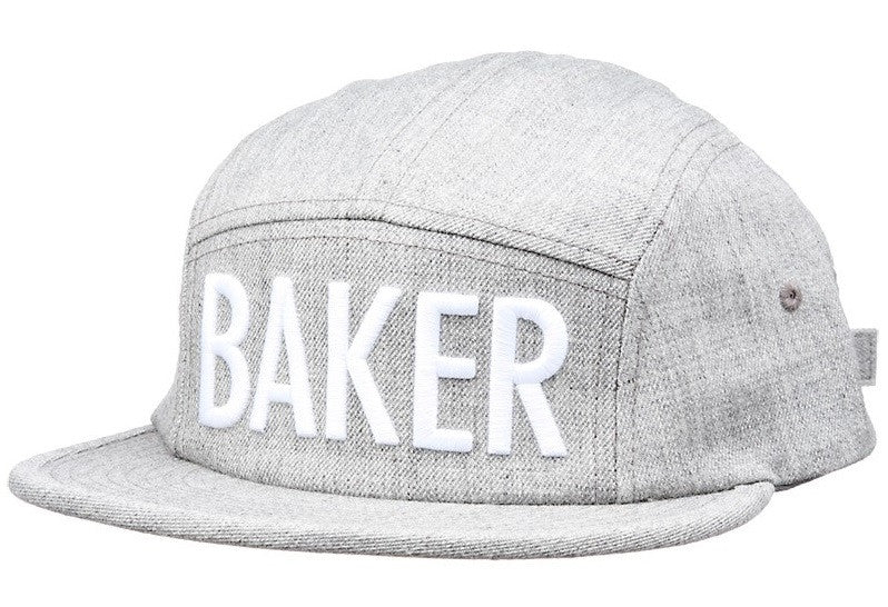 Baker Brockman 5 Panel Strapback - Grey - Men's Hat