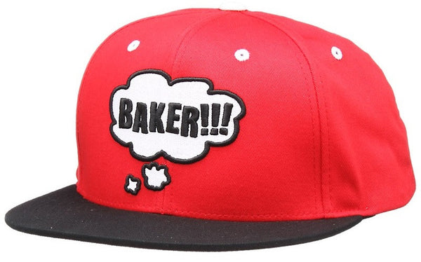 Baker Thoughtless Snapback - Red - Men's Hat