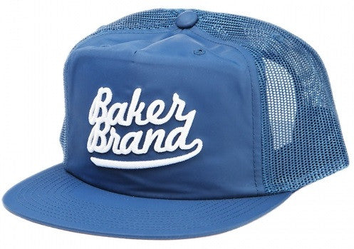 Baker Brand Script Trucker - Light Navy - Men's Hat