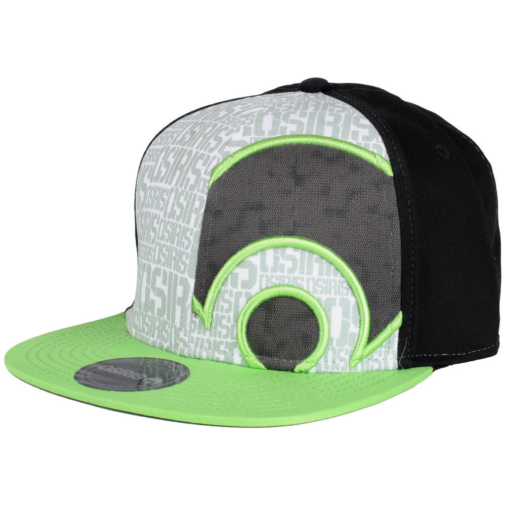 Osiris Phase Flex Fit - Black/Lime - Men's Hat